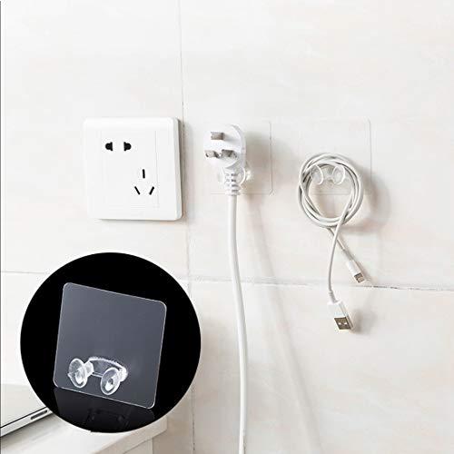 Strong Plug Hook, Non-Slip Transparent Plastic Pasting Hook, Phone Hook, Towel Hook(Clear)