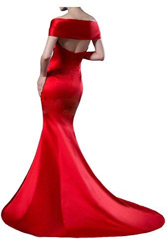 Fesltichkleider Royal mia Satin Braut Meerjungfrau Abendkleider Elegant Partykleider La Ballkleider aus Gruen Olive Lang Blau TB4cSw