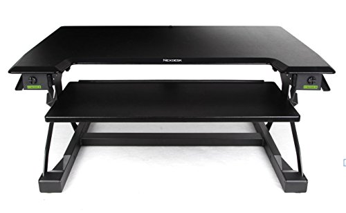 minicute Height Adjustable Standing Computer Desk Ergonomic Sit to Stand fits Dual Monitor Spring Riser 32'' Workstation Dual Monitor Desktop Lifter With Keyboard Tray For Office home- Black by MINICUTE (Image #6)