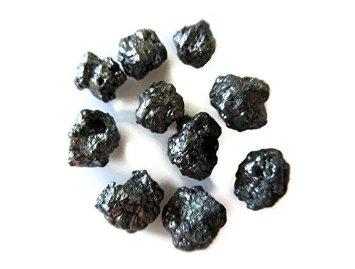 10 Pieces Wholesale Black Raw Rough Diamonds, Uncut Diamonds 5mm Each Approx, Loose Diamonds, SKU- Dd45 by GemsDiamondsbySHIKHA