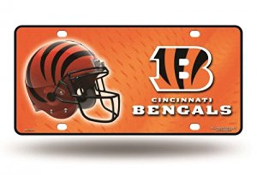 NFL Cincinnati Bengals Metal License Plate Tag