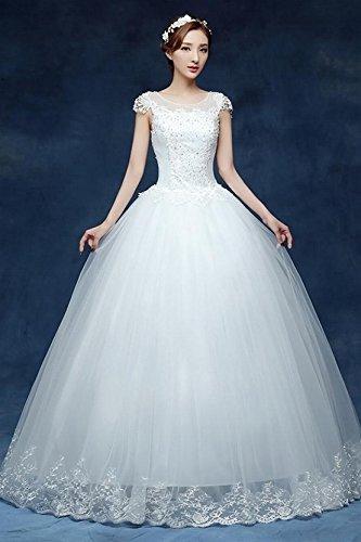 Amazon.com : The bride wedding dress 2018 autumn new Korean Qi word ...