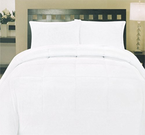 My Sweet Home Goose Down Alternative Comforter, Full, White (White Down Comforter Full compare prices)