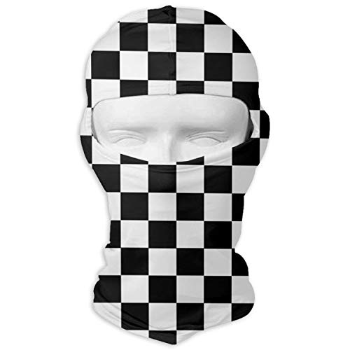 O-X_X-O Balaclava Windproof Ski Face Mask Winter Motorcycle Neck Warmer Balaclava Polyester for Women Men Youth Snowboard Cycling Hat Outdoors Helmet Liner Race Waving Checkered Flag Mask ()