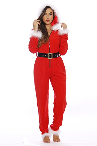 (6256-M Just Love Adult Onesie / Pajamas, Santa Baby)