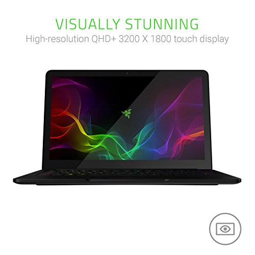 "Razer Blade Stealth 13.3"" QHD+ Touchscreen Ultrabook Laptop - 7th Generation Intel Core i7-7550U - 16GB RAM - 512GB SSD - Windows 10 - CNC Aluminum - Black"