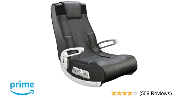 Ace Bayou X Rocker II SE 2 1 Black Leather Floor Video Gaming Chair for  Adult, Teen, and Kid Gamers with Armrest and Headrest - High Tech Audio and
