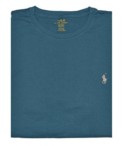 [해외]랄프로렌 남성용 포니 로고 티셔츠 (Pewter Blue, M)/Ralph Lauren Men`s Pony Logo T-Shirt (Pewter Blue, M)