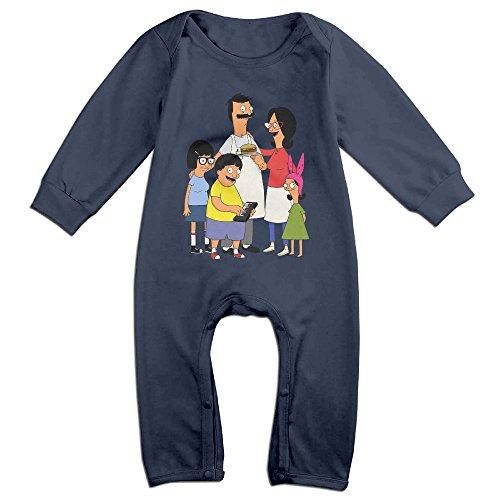 Kids Bob's Burgers Family Baby Bodysuit Little Boys Girls 100% Cotton Long Pants Onesies 24 Months Navy