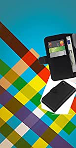 LECELL--Cuero de la tarjeta la carpeta del tirón Smartphone Slots Protección Holder For Sony Xperia Z3 D6603 -- Rayas del arco iris --