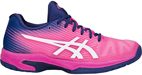ASICS Women's Solution Speed FF Tennis Shoes, Pink/White, Size 9.5