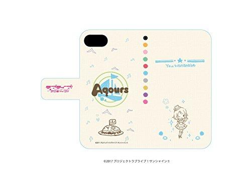 ラブライブ!サンシャイン!! 03 渡辺曜(グラフアートデザイン) 手帳型スマホケース iPhone6/6S/7/8兼用