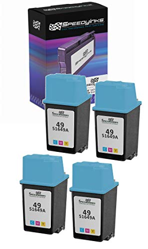 Speedy Inks - 4PK Remanufactured Replacement Ink Cartridge for HP 49 51649A HP 49 Tri-Color
