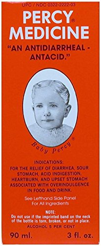 Percy Medicine Relieves Diarrhea (Overindulgence In Food and Drink) 3 OZ (Best Medication For Diarrhea)