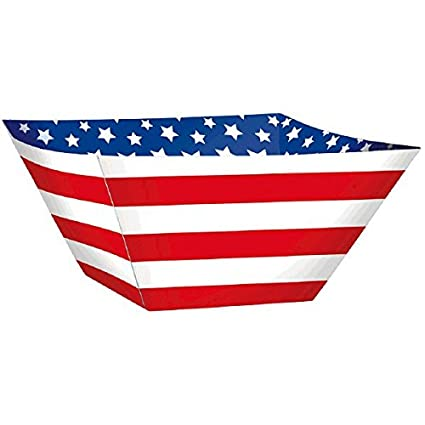 Red White and Blue Stripes and Stars Paper Bowls Patriotic 4th of July Party Disposable  sc 1 st  Amazon.com & Amazon.com: Red White and Blue Stripes and Stars Paper Bowls ...