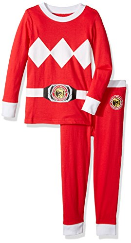 Intimo Toddler Boys' Mighty Morphin Ranger Pajama Set, Red
