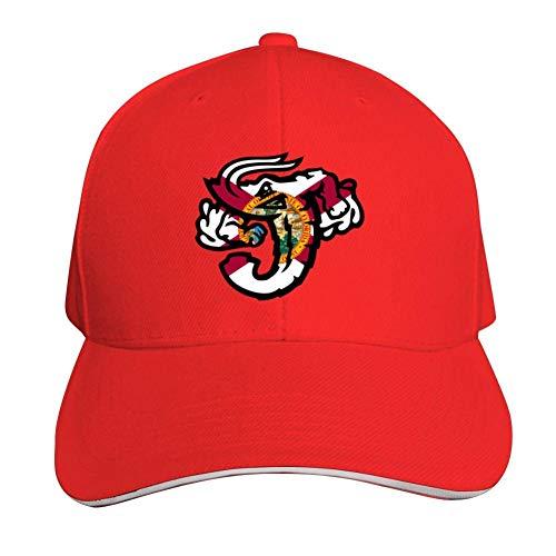 Jacksonville Jumbo Shrimp Florida Flag Base-Ball Cap & Hat for Men or Women Red