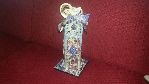 """Blue Sky Clayworks Candle House, """"A Little Bit of Heaven"""""""