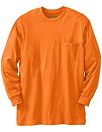 Boulder Creek Men's Big & Tall Heavyweight Long-Sleeve Pocket Crewneck Tee