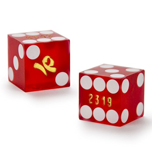 Cancelled Casino - Pair of Authentic Imperial Palace Casino Cancelled Craps Dice - Actually Used in Casino!