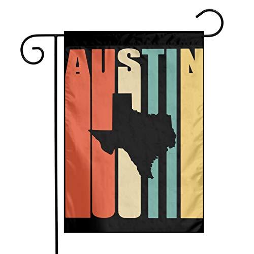 Vintage Austin Texas Graphic Home Backyard Garden Flag Celebration Garden Flag 12