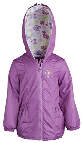 London Fog Baby Girls Lightweight Hooded Spring Windbreaker Jacket - Lilac (24 Months)