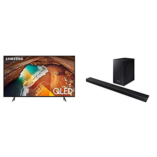 Samsung QN49Q60RAFXZA Flat 49'' QLED 4K Q60 Series (2019) with Harman Kardon HW-Q60R Samsung Acoustic Beam Q60R Series - Bar Sound Acoustic