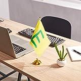 White Blank Desk Flags - 24-Piece Desktop Flags