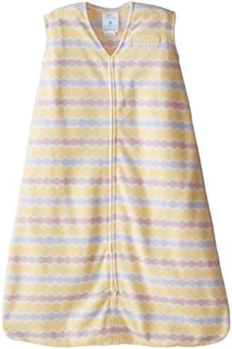 HALO SleepSack Micro-Fleece Wearable Blanket, Yellow Waves, Medium