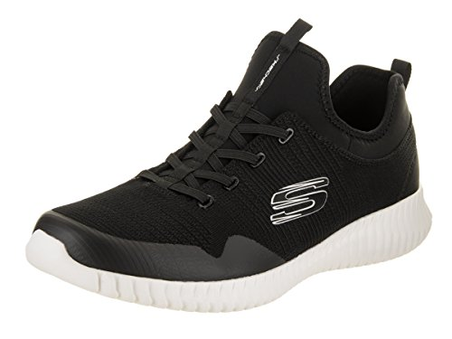 Skechers Mens Elite Flex-Lasker Casual Shoe Black/White 1LdNrh