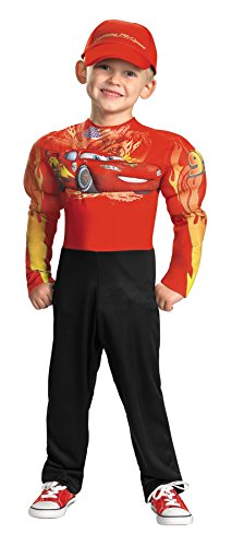 Mcqueen Costumes (Lightning McQueen Muscle Child Costume Size 7-8 Medium)