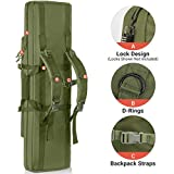 HUNTSEN Tactical Double Long Rifle Pistol Gun Bag