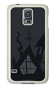 Samsung Galaxy S5 Halloween Gray Illustration PC Custom Samsung Galaxy S5 Case Cover White