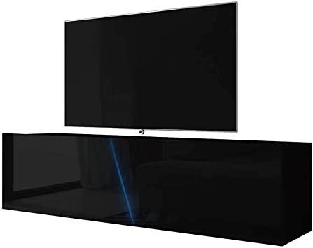 Selsey - Mueble para televisor (160 x 40 x 35 cm), Color Negro ...