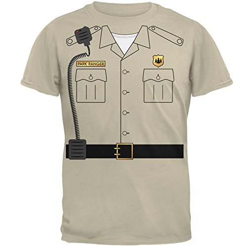 Old Glory Halloween Forest Park Ranger Costume Mens T Shirt Sand MD ()