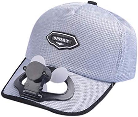 Surfiiy Sport - Sombrero de béisbol de Verano para Exteriores, con Ventilador frío y Visera de Golf, Carga USB, Transpirable, portátil, para Verano, protección Solar, Unisex, Gris, 52-58CM: Amazon.es: Deportes y aire