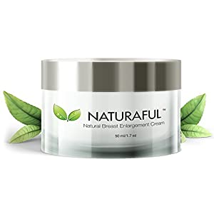 NATURAFUL – (1 JAR) TOP RATED Breast Enhancement Cream – Natural Breast Enlargement, Firming and Lifting Cream | Trusted by Over 100,000 Users & Includes Handbook | $94 Value Bundle