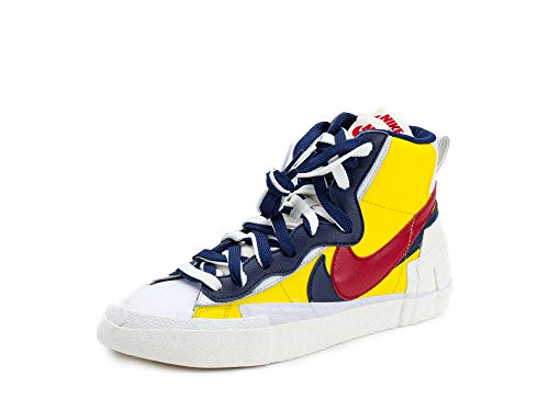 Nike Mens Blazer Mid Sacai Snow Beach Varisty Maze/Red Leather Size 10 ()