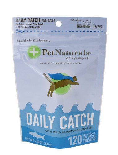 Pet Naturals of Vermont Daily Catch Treat for Cats 6 Pack (6 Bags)