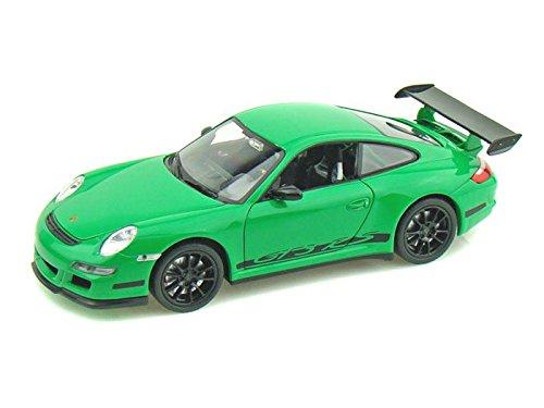 Car Green Model - Welly Porsche 911 GT3 RS 1/24 Scale Diecast Model Car Green