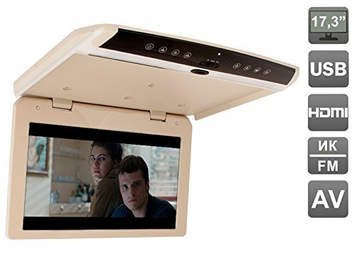 173-inch-flip-down-roof-mount-1080p-monitor-with-usb-and-hdmi-avis-avs1750mppbeige
