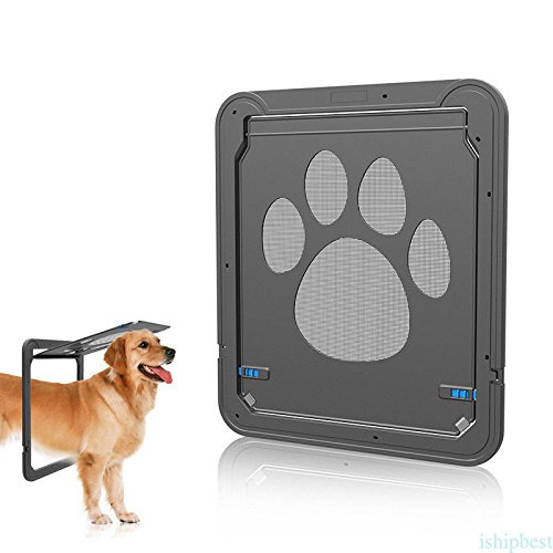 Patio Pacific Thermo Panel (ABS Black Pass Interior Cat Dog Door Pet Door for Cats Dogs Simple Install)