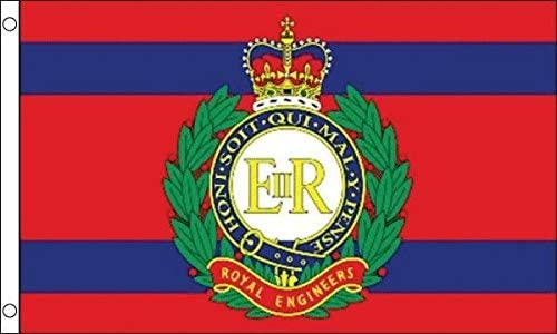 Royal Engineers Regiment Flag 5ft x 3ft 75d Premium Polyester Suitable For Flagpoles