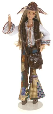 B000056VO7 Barbie Peace & Love 70's Collector Doll: Great Fashions of the 20th Century Collection 416N2XQG5CL.