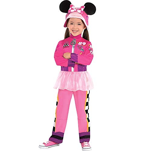 Suit Yourself Minnie Mouse Halloween Costume for Toddler Girls, Mickey & the Roadster Racers, 3-4T, Includes Hat