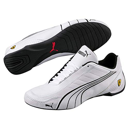 PUMA Mens Ferrari SF Future Cat Kart Driving Athletic Shoes in White (9.5)