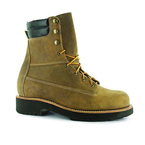 Abram Boot Men's Genesee 8'' Steel Toe Work Boots, Tan Leather, Trailblazer XL BossSole, 10.5 WW - 8' Mens Steel Toe Boot