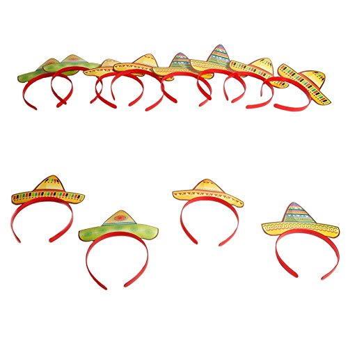 Fun Express Sombrero Party Hat Headbands Fiesta Party Favors - 24 pieces by Fun Express