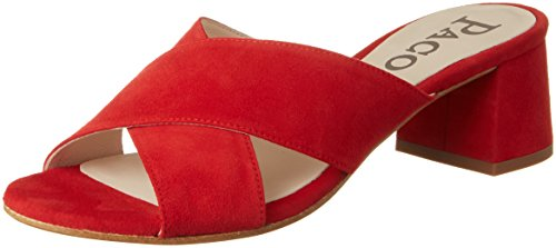 Paco Gil Dames P3221 Mules Rood (passie)