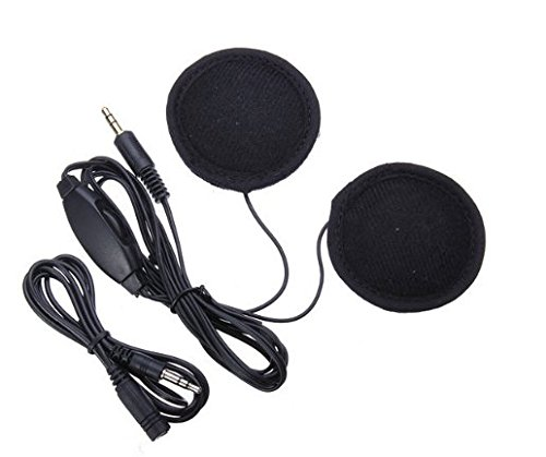 URBeauty 3.5mm-Plug Stereo Motorcycle Helmet Speaker Headphones with Volume Control for Cellphone /MP3 /GPS (Black)